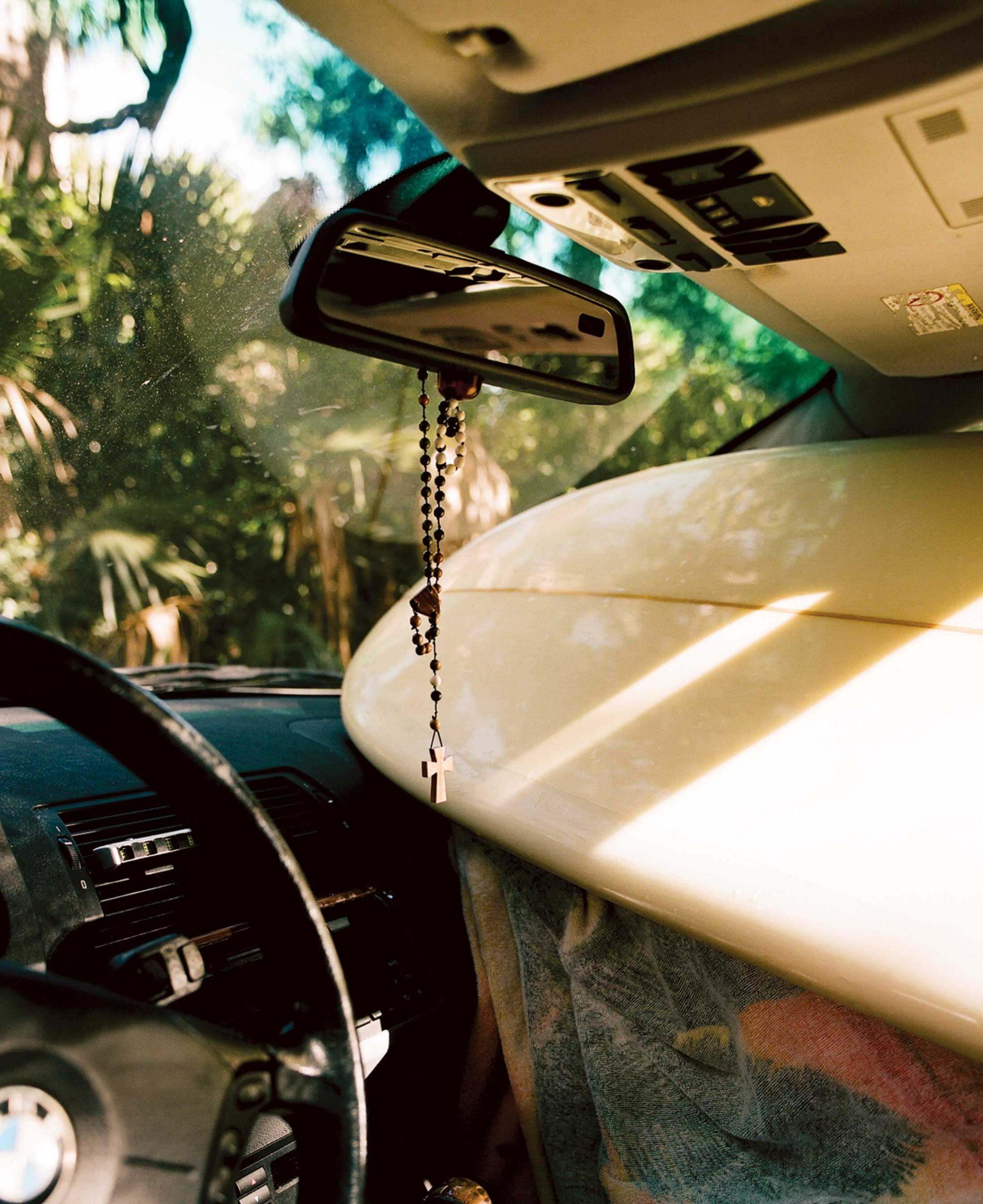 Lucas's car after the surf.