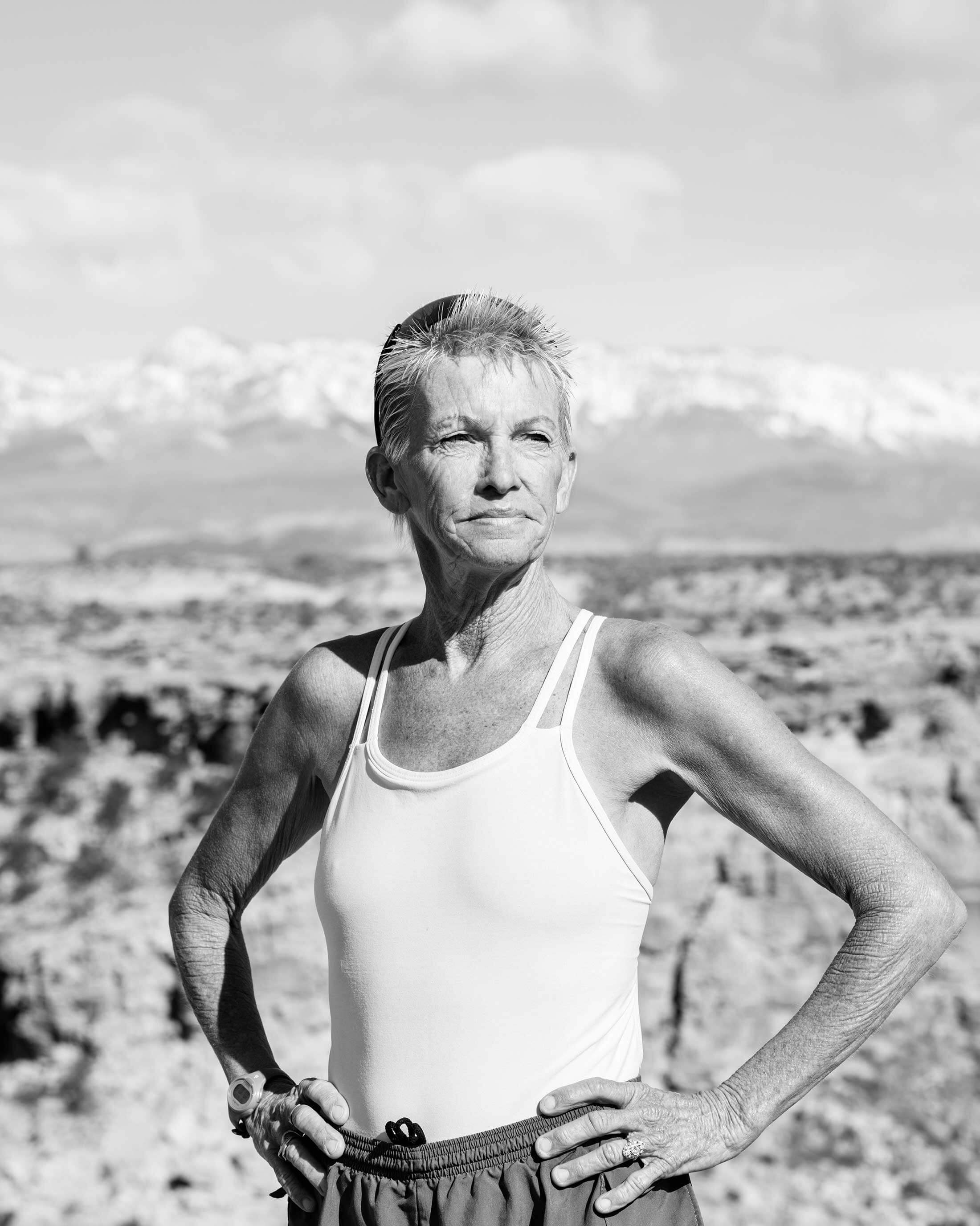Pamela Reed in Utah the day before Zion National Park's 100-mile ultramarathon, where she placed third among female finishers in April.