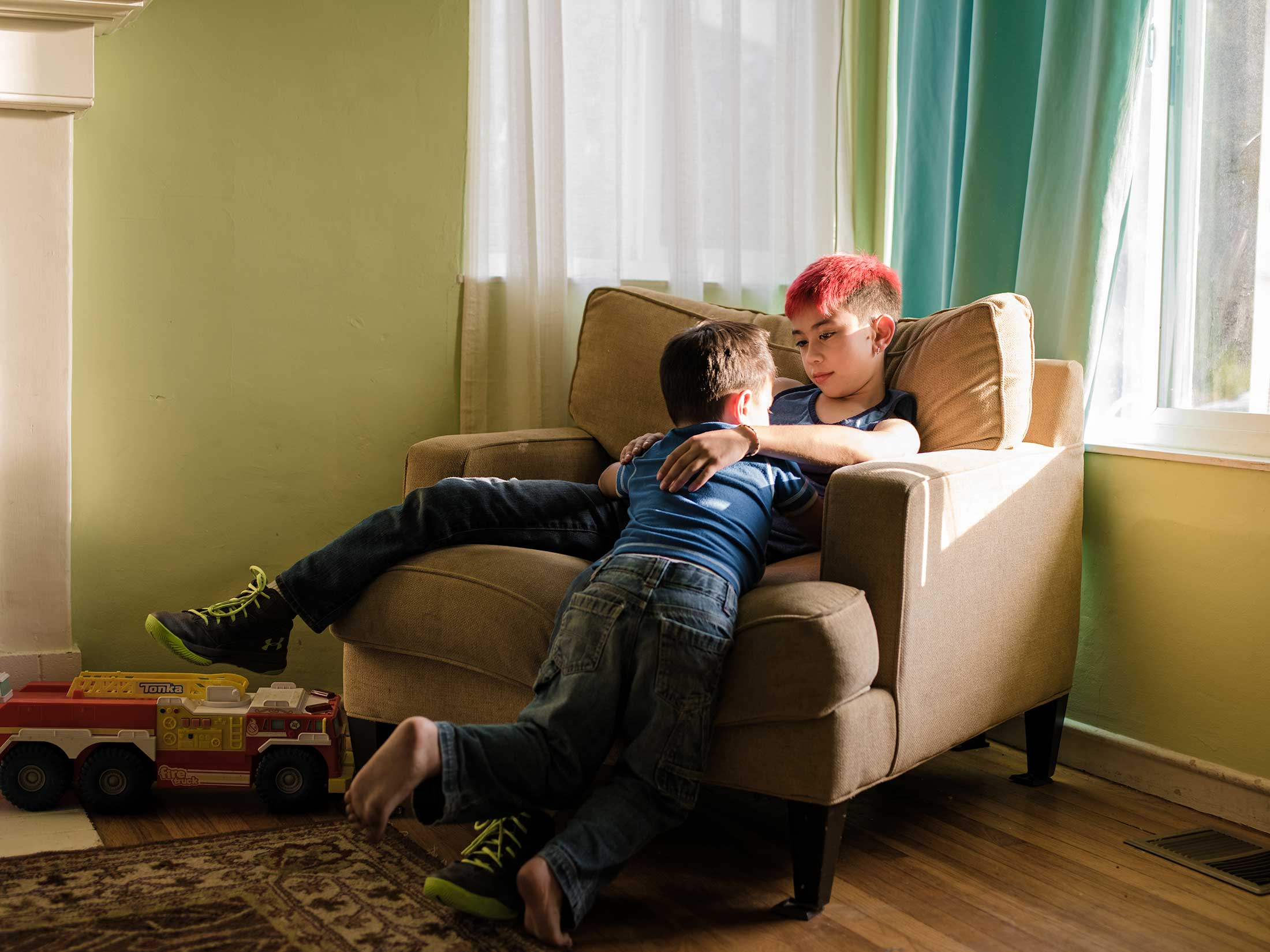 Transgender Boy And His Little Brother / Bay Area, California